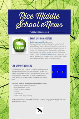 Rice Middle School eNews