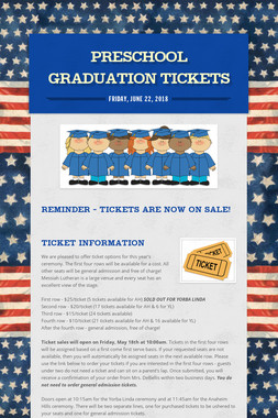 Preschool Graduation Tickets