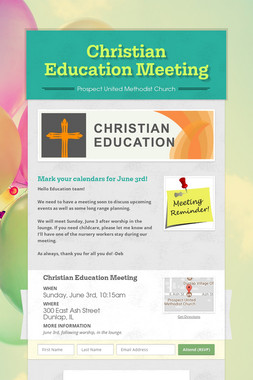 Christian Education Meeting
