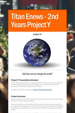 Titan Enews - 2nd Years Project Y