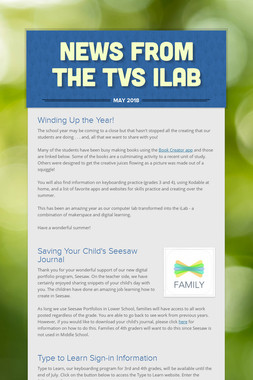 News from the TVS iLab