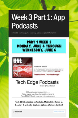 Week 3 Part 1: App Podcasts