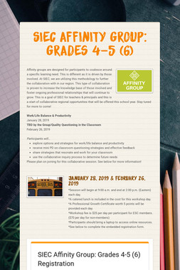 SIEC Affinity Group: Grades 4-5 (6)