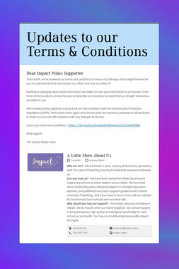 Updates to our Terms & Conditions