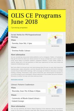 OLIS CE Programs June 2018