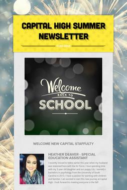 Capital High Summer Newsletter