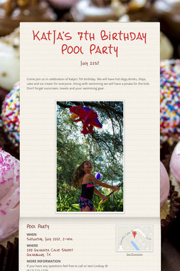 KatJa's 7th Birthday Pool Party