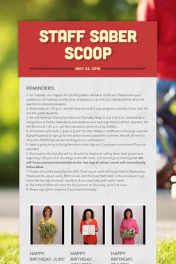 Staff Saber Scoop
