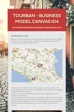 TOURBAN - BUSINESS MODEL CANVAS IO4