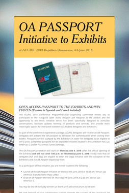 OA PASSPORT Initiative to Exhibits