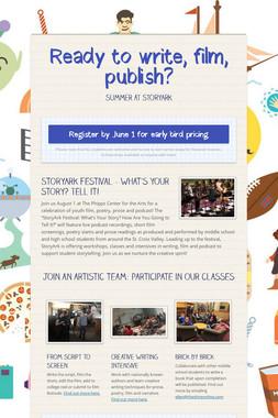 Ready to write, film, publish?