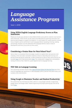 Language Assistance Program