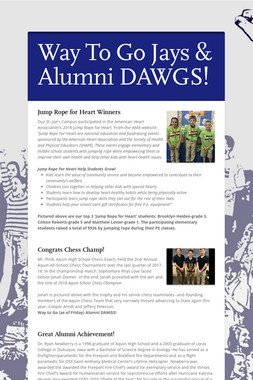 Way To Go Jays & Alumni DAWGS!