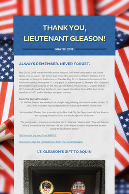 Thank You, Lieutenant Gleason!