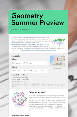 Geometry Summer Preview