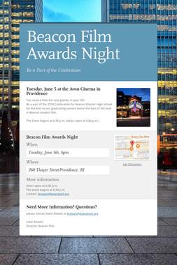 Beacon Film Awards Night