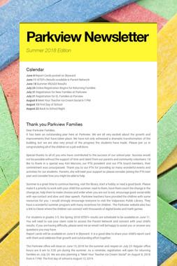 Parkview Newsletter