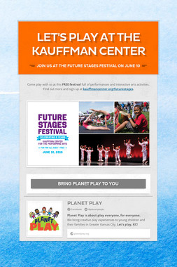 Let's play at the Kauffman Center
