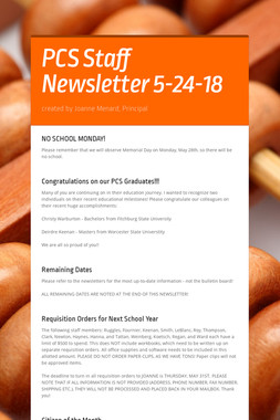 PCS Staff Newsletter 5-24-18