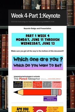 Week 4-Part 1:Keynote