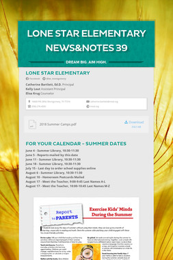 Lone Star Elementary News&Notes 39
