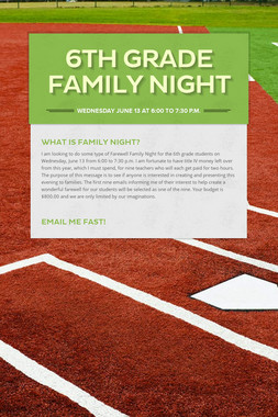 6th Grade Family Night