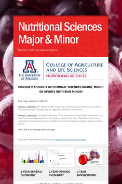 Nutritional Sciences Major & Minor