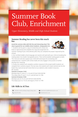 Summer Book Club, Enrichment