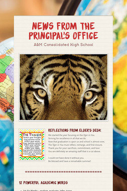 News from the Principal's Office