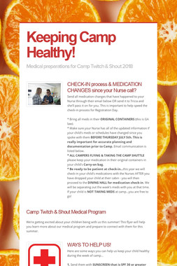 Keeping Camp Healthy!