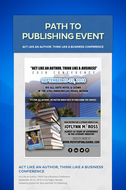 Path To Publishing Event