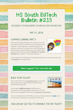 HS South EdTech Bulletin #2.13
