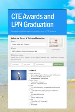 CTE Awards and LPN Graduation