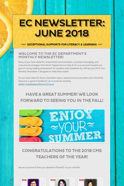 EC Newsletter: June 2018