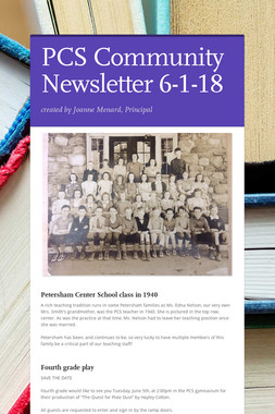 PCS Community Newsletter 6-1-18