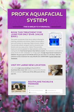 ProFX AquaFacial System