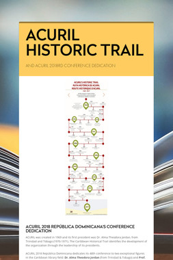 ACURIL HISTORIC TRAIL