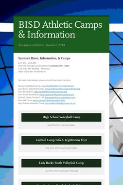 BISD Athletic Camps & Information