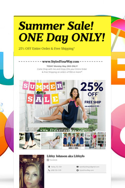 Summer Sale! ONE Day ONLY!