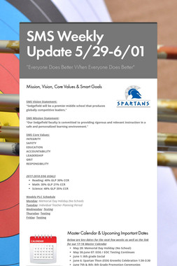 SMS Weekly Update 5/29-6/01