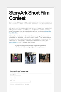 StoryArk Short Film Contest