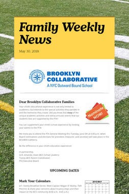 Family Weekly News