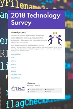 2018 Technology Survey