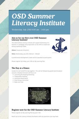 OSD Summer Literacy Institute