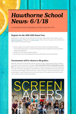 Hawthorne School News: 6/1/18
