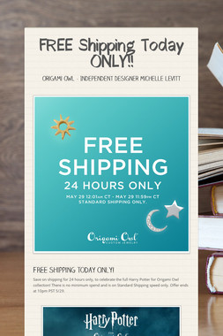 FREE Shipping Today ONLY!!