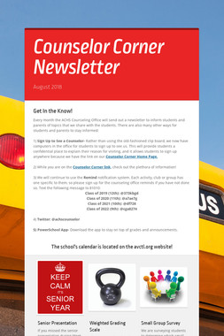 Counselor Corner Newsletter