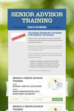 Senior Advisor Training