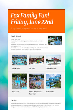 Fox Family Fun! Friday, June 22nd