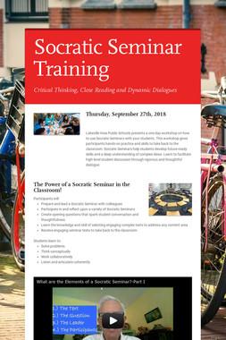 Socratic Seminar Training